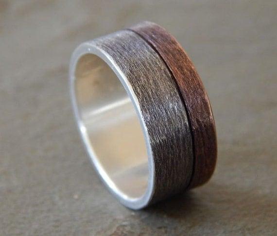 moonlight silver copper 6 9mm men 39 s wedding ring