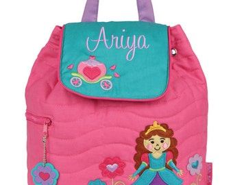 Girls Backpack Personalized Princess Stephen Joseph Quilted Preschool Toddler