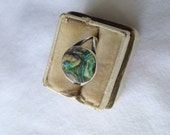 Sterling Silver and Abalone Shell Native American Small Ring, Size3
