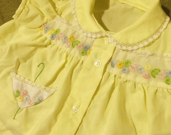 Yellow two piece floral dress (baby)