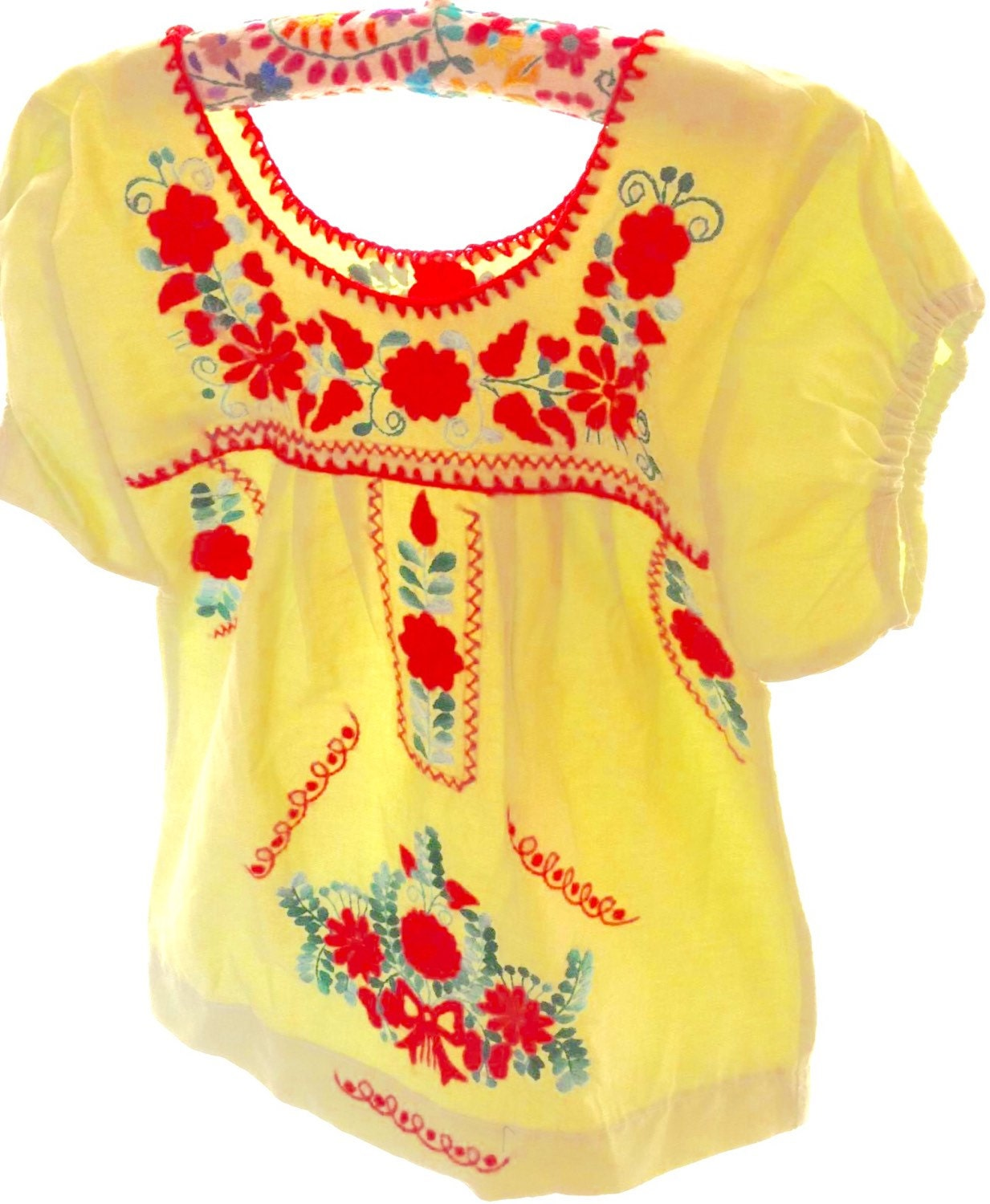 Mexican dress baby embroidered tunic by aidacoronado on etsy