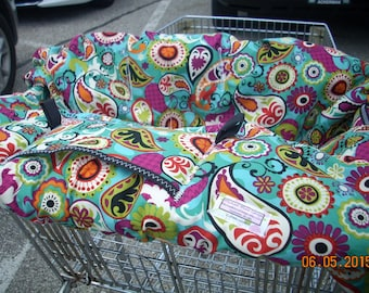 Shopping Cart cover for boy or girl.....Funky Paisley shopping cart cover MichaelMoooDesign