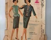 1960s Vintage Sewing Pattern McCalls 5936 Misses Separates Blouse Sim Skirt Box Jacket Size 14 Bust 34 60s  1961  99