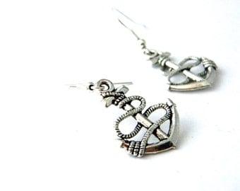 Anchor Earrings Silver Color Dangle Earrings