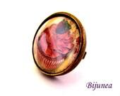 Cupcake ring - Cupcake cake ring - Cupcake brown ring - Cupcake ring - Cupcake jewelry r802