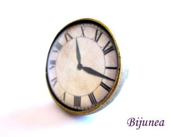 Watch ring - Romantic Watch ring - Vintage Watch ring - Brass Watch ring - Watch ring r775