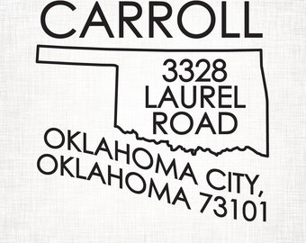 Oklahoma Personalized Return Address State Stamp