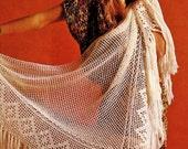 Shawl Crochet Pattern / Filet Crochet Pattern / 4 Ply Summer Crochet Pattern / INSTANT Download Pattern in PDF (1614)