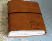 bucket list journal with maps as a travel journal in faux leather