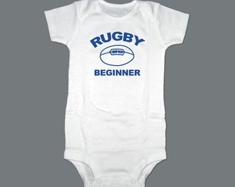 Personalized Rugby One Piece Bodysuit, Creeper, T-Shirt - Baby Gift, Christening, Baptism Gift