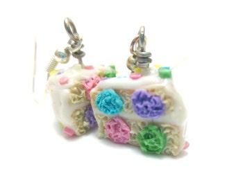Polka Dot Cake Earrings