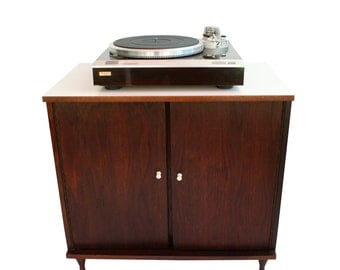 Summer Sale Mid Century Modern Record Cabinet