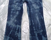 Size-16/33 Handmade Vintage Style Tie Dyed Womens Jeans Lucky Brand jeans