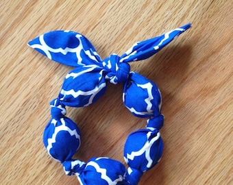 Royal Blue and White Pattern Teether