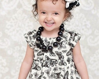 Made to match Peekaboo and Butterfly Dress by Adella Bella Clothing Chunky Necklace for Little Girls