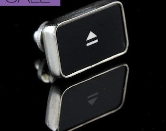 SALE - Computer Key Accessories - rePURPOSED Apple MacBook Eject Key Symbol Tie Tack or Pin