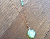 A Day at the Beach Sea Glass Shell Necklace