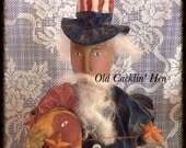 Uncle Sam-A-Doodle-Do Primitive Uncle Sam
