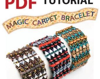 Magic Carpet Bracelet PDF tutorial beadwoven bracelet