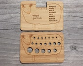 Sheep WPI tool / Knitting Needle and/ or Crochet Hook Gauge Bamboo