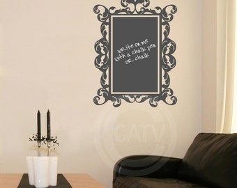 Chalkboard Decal Rectangle Frame Wall Decal Self Adhesive large vinyl lettering wall sticker kitchen mud room office