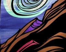 O Timballo! Papercut artwork illustration of Edward Lear Poem The Jumblies