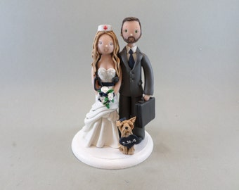 Nurse & Lawyer Custom Handmade Wedding Cake Topper