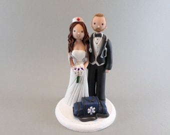 nurse wedding cake toppers paramedic toppers etsy 17951