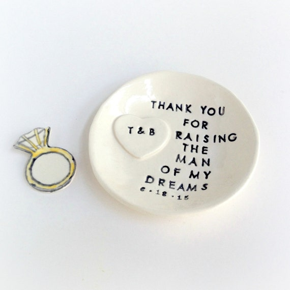 Personalized Wedding Gift For Mom : Personalized mother of groom wedding gift ring dish thank you for ...