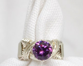 The Hidden Crystal Wire Wrapped Ring
