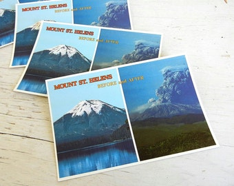 Washington Postcards | Mt St Helens Eruption Before & After| Pacific Northwest | Portland | Seattle | Volcano