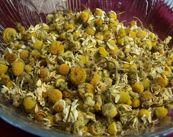 Chamomile -  by the ounce - Chamomile tea - organic double cleaned - loose german whole flowers - for tea making or bath products oz lb