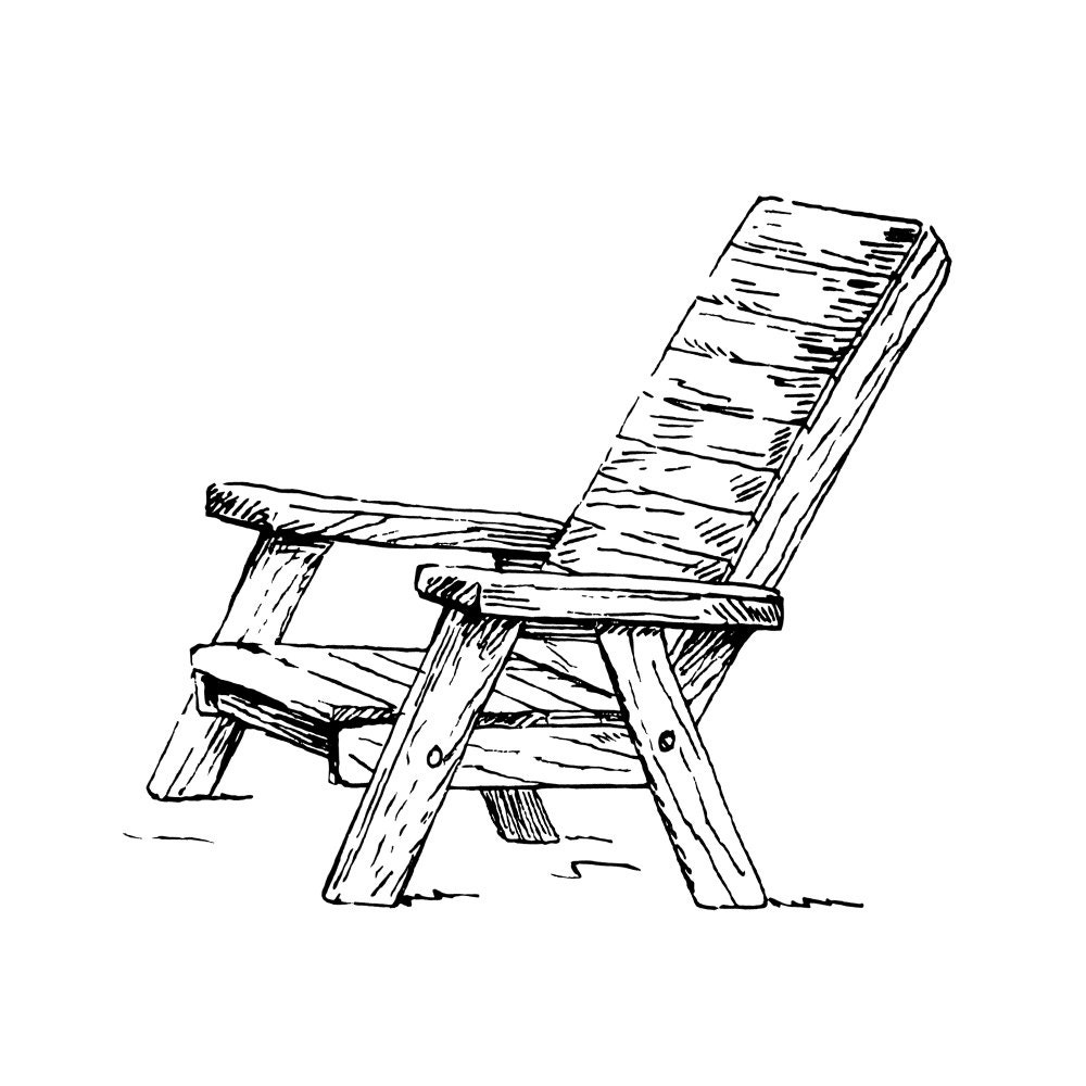 Beach chair and umbrella sketch - Rubber Stamp Adirondack Beach Chair And Sun Umbrella Ocean Sea Summer Fun Wood Country Cabin Cottage Lake Life Cling Cushion 50 08 09