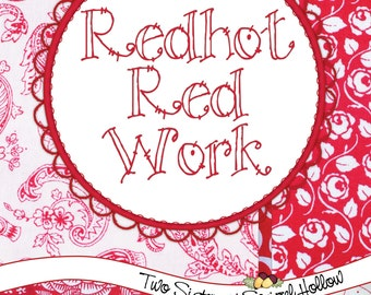 Redhot Red Work - Quilt Pattern Book