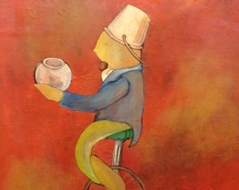 unicycle - original painting