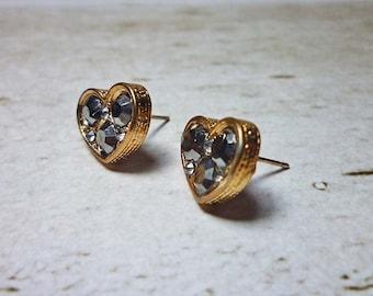 SALE - Heart Shaped Stud Earrings