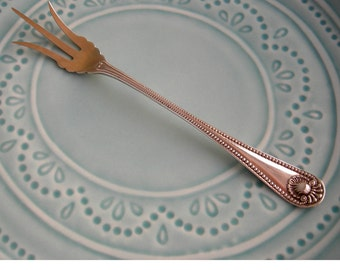 Antique Sterling Silver Lemon Fork, Frank Whiting, Vermeil Washed Tines, 1896, Wedding, Shower, Engagement Gift