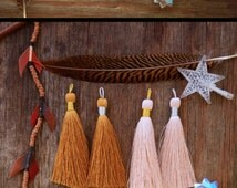 """Naturals Tassel Mix, Luxe Silk Tassels, 3"""" (77mm) / Perfect for Boho Jewelry  / Bronze, Toasted Almond, Grey and Khaki Tan"""