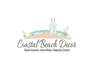 Custom Business Logo, Coastal Logo, Beach Logo