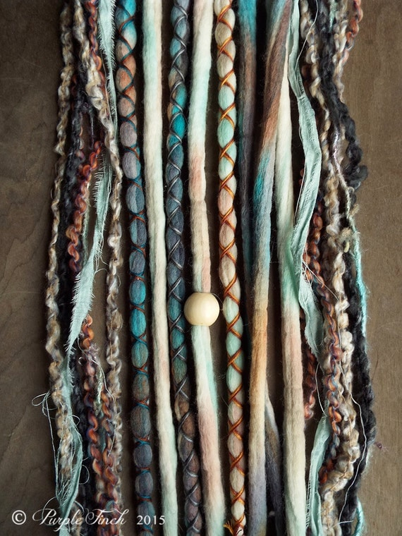 Shop purple finch 10 mixed native sand tie dye wool synthetic dreadlock clip in or set of 10 total hair extensions pmusecretfo Image collections