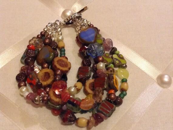 Stoned bracelets multiple strands