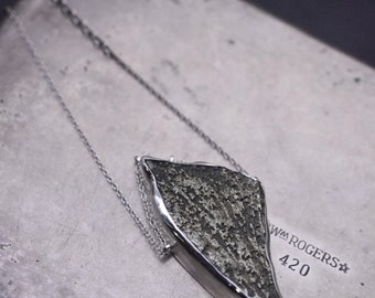 "be loud…Pyrite ""talon"" in sterling silver necklace"