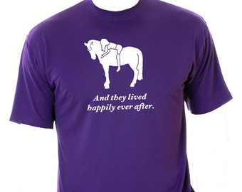 And they lived happily ever after!  Horse/Pony Girl Love! Tshirt Personalized with Names