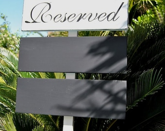 CHaLkBoaRd Signs Staked - WeLCoMe SiGn - DiReCTioNaL Chalkboard SiGnS - Wedding - 3 Signs on 4ft Stake - CHARCOAL BLACK - 17 X 5