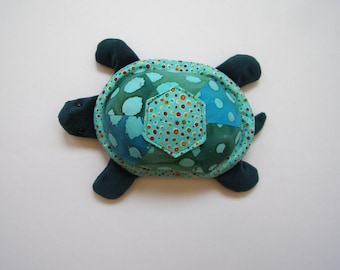 Turtle- soft velour turtle-stuffed animal toy - gift for children-soft sculpture-gift-stocking stuffer-birthday