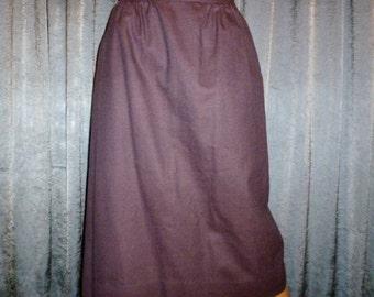 """Vintage 70's - J G Hook - Mauve - Purple - Wool - Military - Fitted - Skirt - 26"""" Waist"""