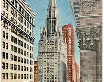 Vintage Chicago Postcard - Clark Street (Unused)