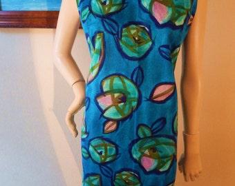 Vintage Hawaiian dress, Lauhala brand,  Sheath dress