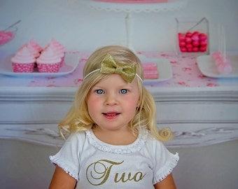 Glitter Bow Headband...Glitter Bow Clip...Gold Glitter Bow Headband...Gold glitter bow Clip...Elegant glitter bow