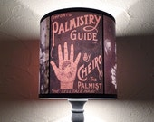 Unique lighting Obscure Fate lamp shade lampshade - bohemian decor, palmistry reading, chiromancy,boho,fortune teller,witchcraft,accent lamp